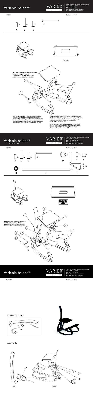 istruzioni montaggio schienale varier variable