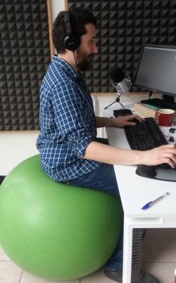 palla ginnastica in ufficio