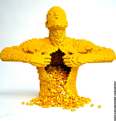 lego scultura goatse man
