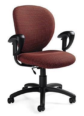 sedia da ufficio con braccioli e rotelle