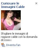 facebook ragazze pubblicità