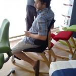 Alessandro del team NerdGranny durante un test sulla Thatsit